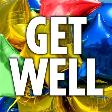 Get Well Soon Mylar Balloon from Ingallina's Gifts