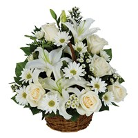 """Thinking of You"" basket of flowers (BF212-11KM)"